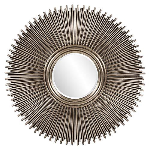 Howard Elliott Singapore Silver Leaf Mirror, Multi Rod Starburst Frame, 50 Inch -