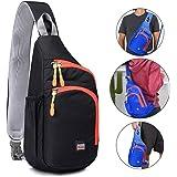 RedsGirl Outdoor Waterproof Sling Backpack - Crossbody Shoulder Chest Bag Hiking Daypacks
