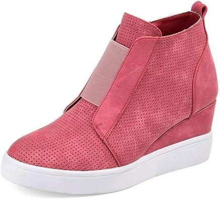 Zapatillas de Cuñas para Mujer Plataformas Botines Tacon Altas 4.5 ...