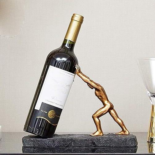 lemonadeus Wine Bottle Holder Novelty Heracles Wine Stand Premium Resin Wine Bottle Rack Gift