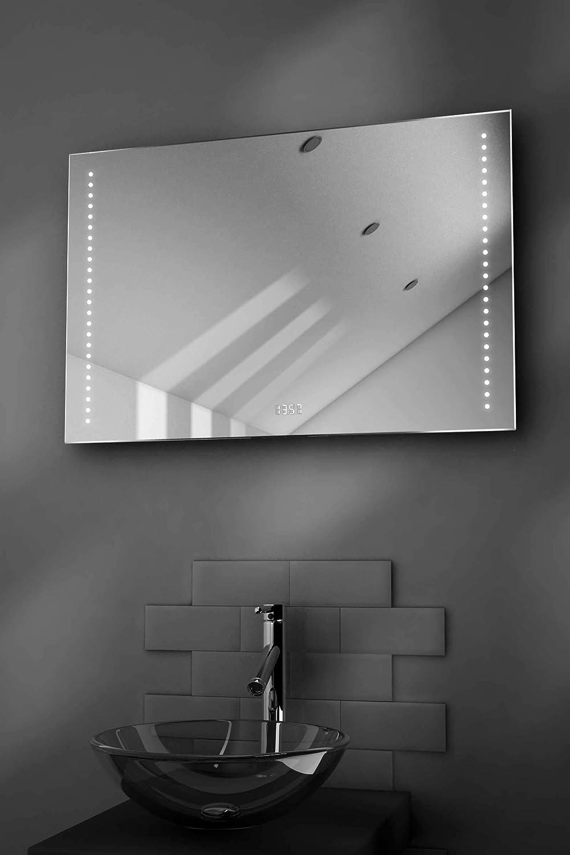 Diamond X Collection Miroir Salle De Bain Ultra-Fin avec Horloge Capteur K194 Et Antibu/ée Bella