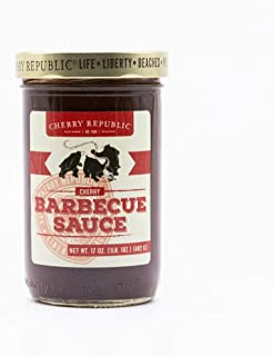 product image for Cherry Republic Original Cherry Barbecue Sauce – Real Cherry Chunks BBQ - ONE 17 oz Jar