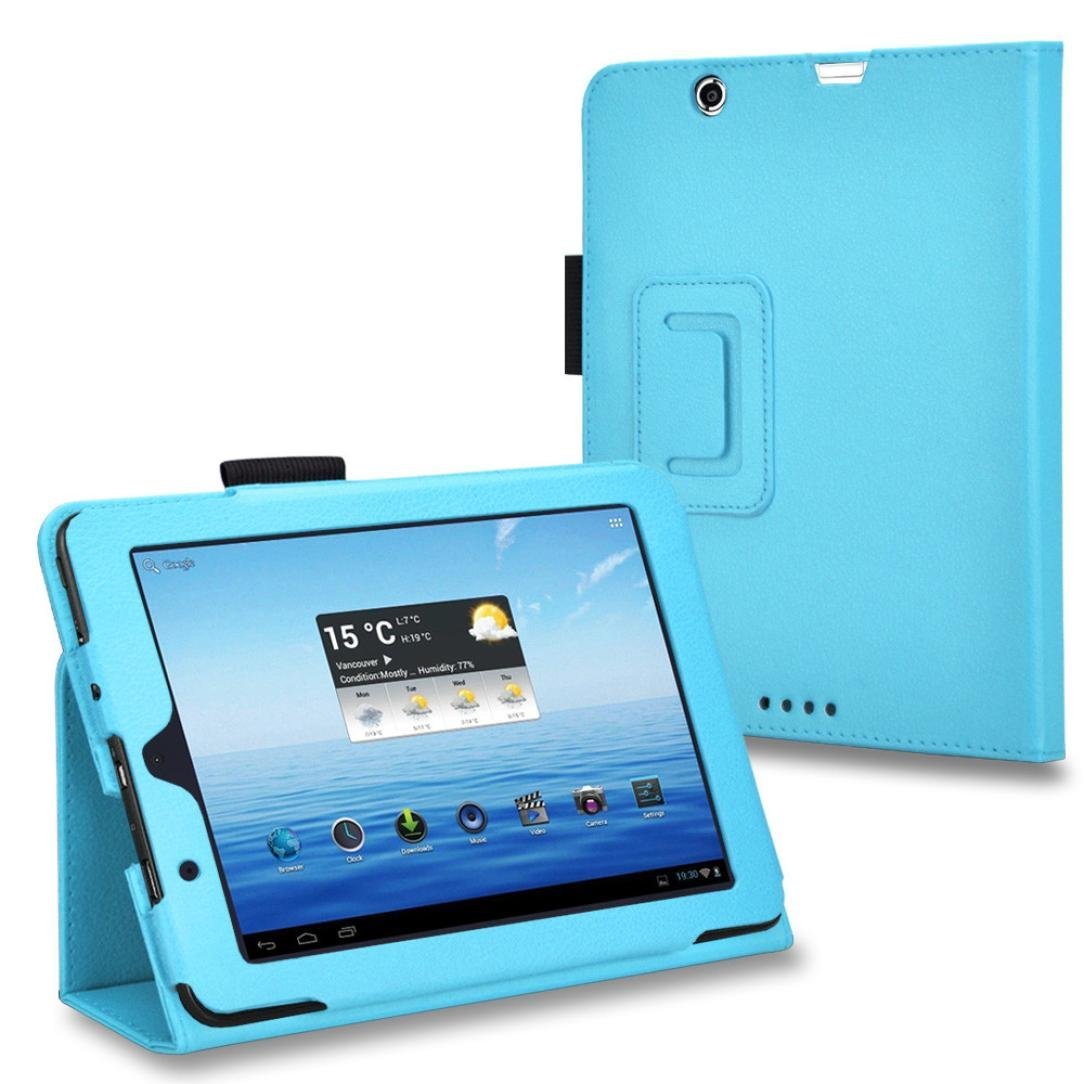 Iusun Leather Case Folding Protective Cover Stand Shell For E-Fun 7.85inch Nextbook 8 NX785QC8G Tablet (Blue) 16817010934E