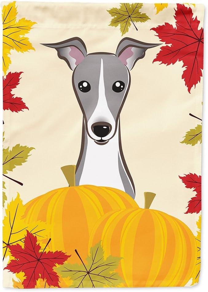 Caroline's Treasures BB2042GF Italian Greyhound Thanksgiving Flag Garden Size, Small, Multicolor