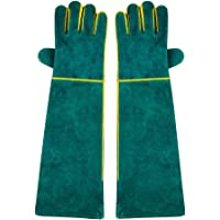 NUZAMAS 1 Pair of Welding Gloves 58cm/ 23-Inch Length Shoulder Split Cowhide Foam Lined EXTAR LONG For Mig Tig Welders…