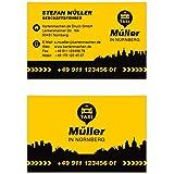 250 Visitenkarten Für Taxi Kurier Transport 350g