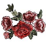 Sinwo 2PC DIY Embroidered Rose