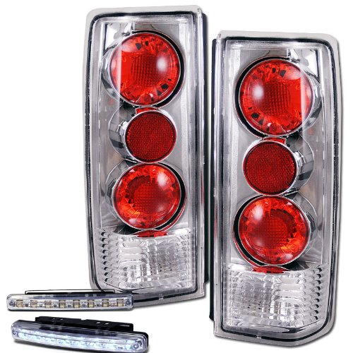 1985-2005 ASTRO VAN/ SAFARI REAR BRAKE TAIL LIGHTS CHROME+LED BUMPER (Gmc Safari Rear Bumper)
