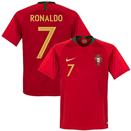 low priced f3fe8 add35 NIKE Portugal Home Ronaldo Jersey 2018/2019 Size Adult Medium