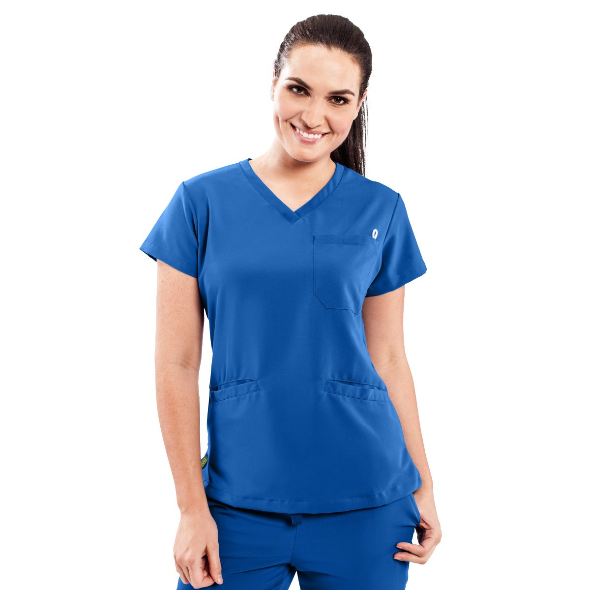 e894902802f ave Women's Medical Scrub Top, Berkeley ave, V-Neck Scrub Shirt, 2 Pockets,  Wrinkle Resistant, Great for Nurses, Royal Blue, X-Small