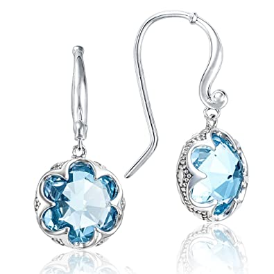 b2400005a5d52c Image Unavailable. Image not available for. Color: Tacori SE21102 Sterling  Silver Sonoma Skies Crescent Sky Blue Topaz Drop Earrings