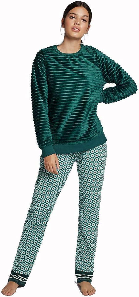 GISELA Pijama Peluche de Mujer (L, Verde): Amazon.es: Ropa