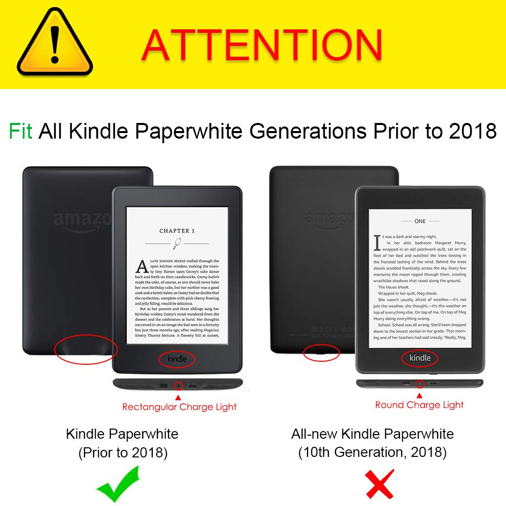 Not Fit All-New Paperwhite 10th Gen Fintie Slimshell Case for Kindle Paperwhite Ancient Map Fits All Paperwhite Generations Prior to 2018