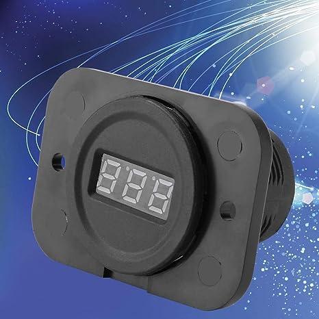 Luz de Fondo Azul CA 4-36V LED Medidor de Voltaje de Digital Probador de Voltios