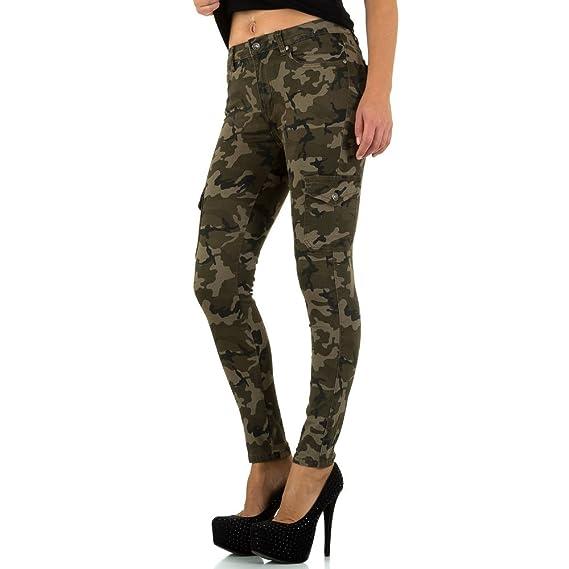 58b016684db678 Camouflage Cargo Skinny Jeans Für Damen , Grün In Gr. 38 bei Ital-Design