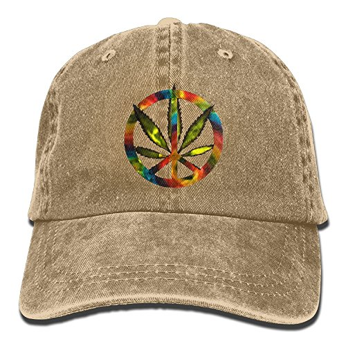 Skull Cowboy Hat (Cannabis Leaf Tie-Dye Metal Peace Sign Adult Sport Adjustable Baseball Cap Cowboy Hat)