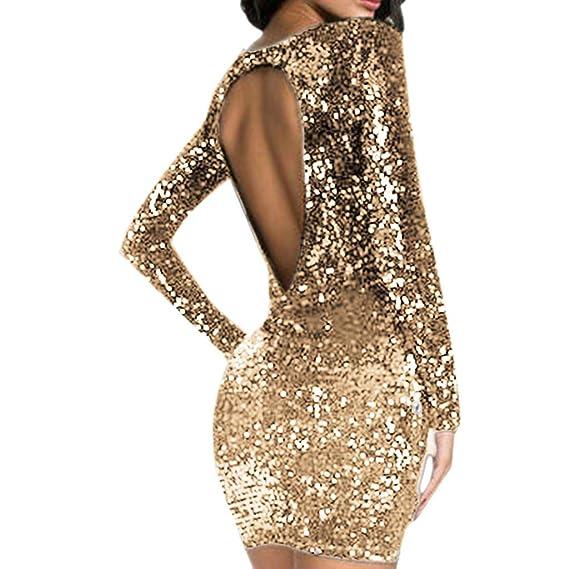 Vestido De Espalda Abierta Zodof Vestido De Lentejuelas Vestido Ajustado Sexy Vestidos De Fiesta Corto Fiesta Elegante Vestidos Mujer