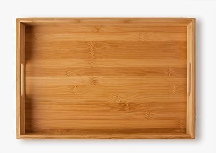 Bandeja de de bambú , para servir comidas (40 x 28 x 4,5