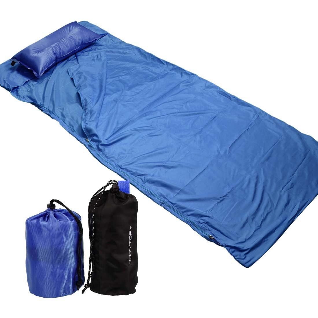 RoryTory 膨らませるキャンプ用枕 寝袋用ライナー付き セット 携帯用 B01N9RDEU8  ブルー