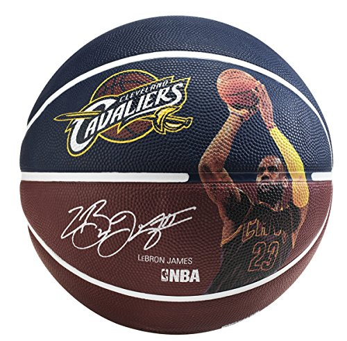 fan products of Spalding 83349 LeBron James Basketball, Maroon/Blue