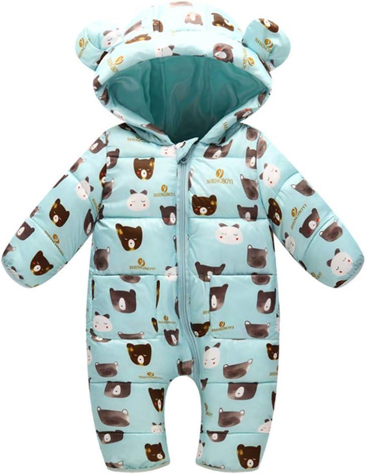 Bambino Tutina con cappuccio Pagliaccetto Neonato invernale Tuta da neve Tutine Addensare Pigiama Jumpsuit Outfits
