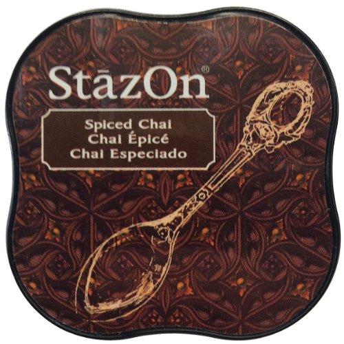 Tsukineko StazOn Midi Ink Pad, Spiced Chai