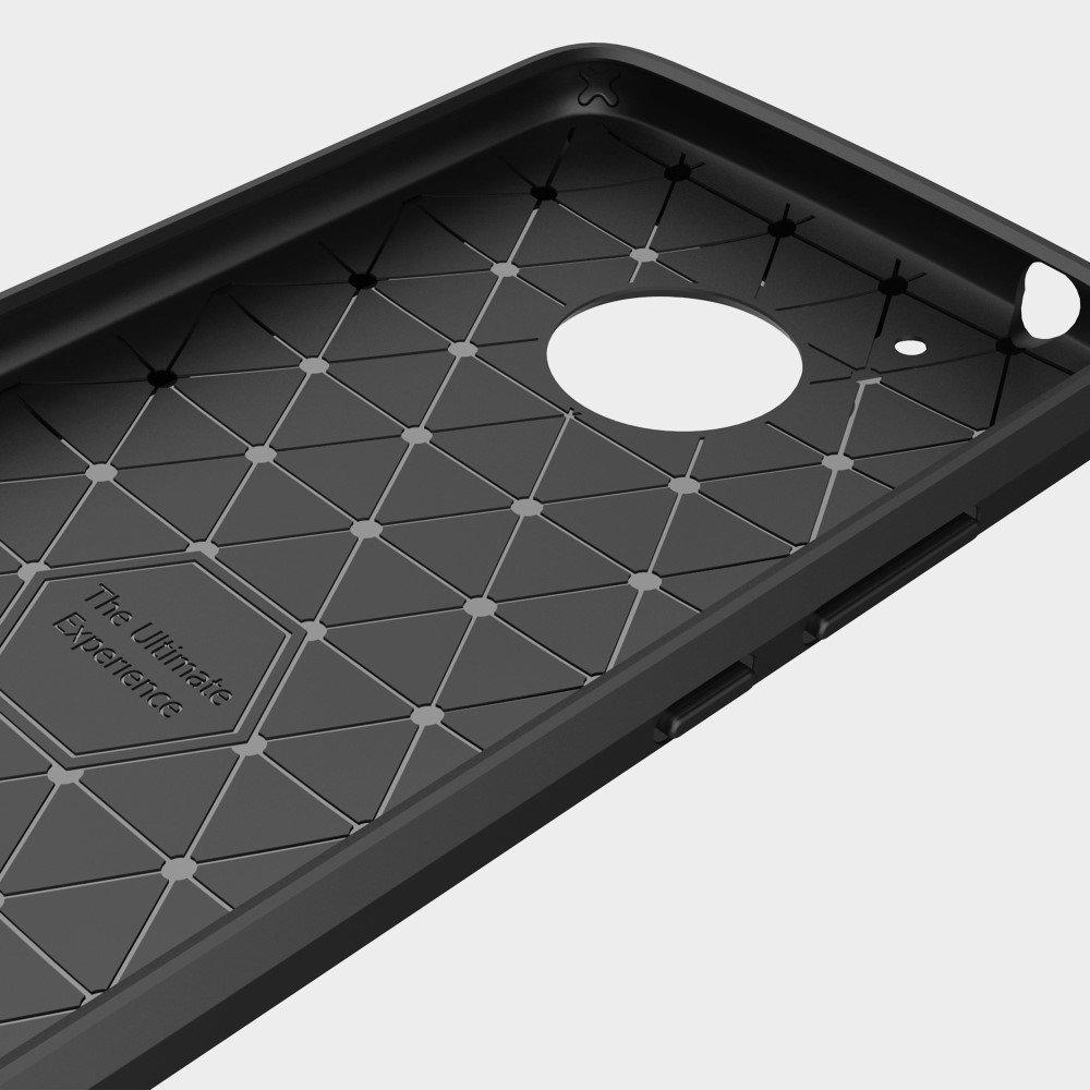 Negro Caucho Suave Elegante y Funda Antideslizante Para Motorola Moto G5 Plus
