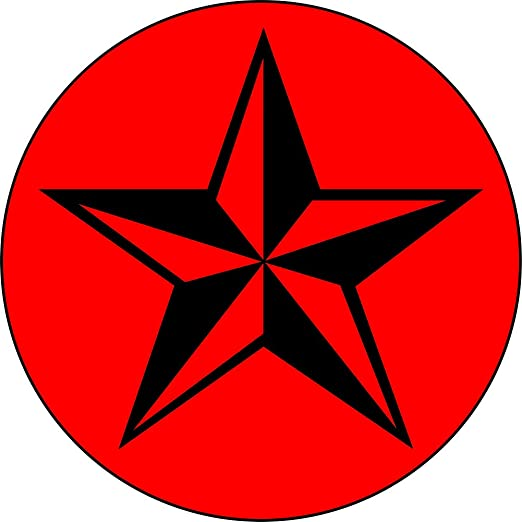 Amazoncom Red Black Nautical Star 1 14 Buttonpin Clothing