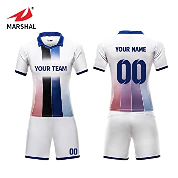 bc3755c6f4c ZHOUKA Mens football jerseys custom shirts youth futbol kit soccer uniforms  (Blue