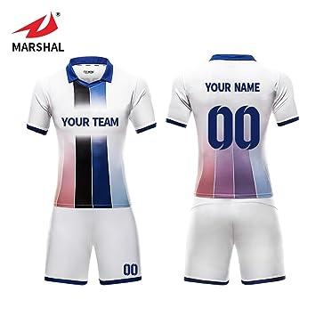 b0a01502aea ZHOUKA Mens football jerseys custom shirts youth futbol kit soccer uniforms  (Blue, S)
