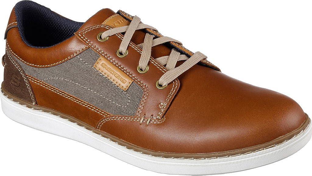 lumière Tan 45.5 EU Skechers - Reldon marron cuir - Chaussures mode ville