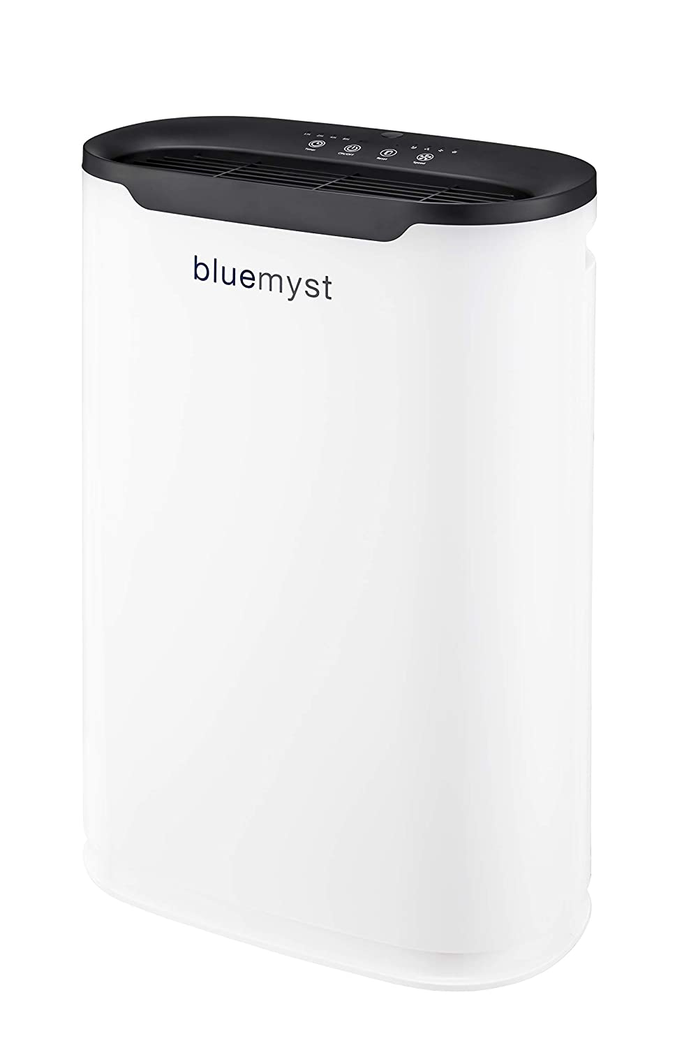 Bluemyst HEPA Air Purifier with 5-in-1 of Filtration for Rooms up to 250 sq ft, Captures Allergens, Odors, Smoke, Mold, Dust, Germs and Pet Dander with Remote Control, White Black