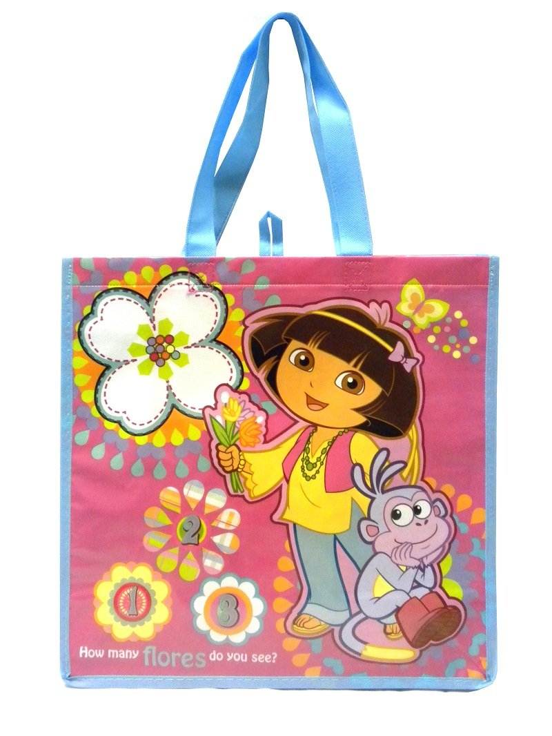 OTC Blue Strap Flowers Dora the Explorer Reusable Eco Friendly Tote Bag by OTC (Image #1)