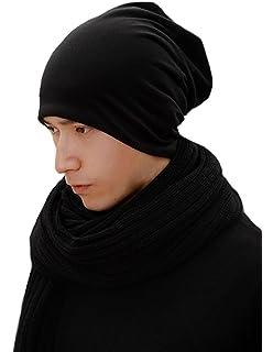 93be7b939bd 365-Shopping Unisex Mens Womens Grey Jersey Beanie Spring Cap Summer Cap  Long Thin…