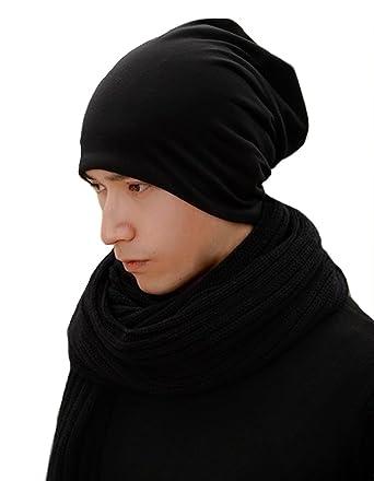 5a8fb75c6a3 365-Shopping Unisex Mens Womens Jersey Beanie Spring Cap Summer Cap Long  Thin Beanies Slouch Hats  Amazon.co.uk  Clothing