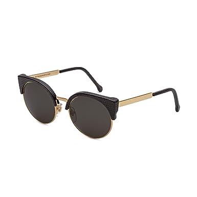 Black W Lizard Ilaria Leather Gold Super Retrosuperfuture Sunglasses 925 thdsQrxBC