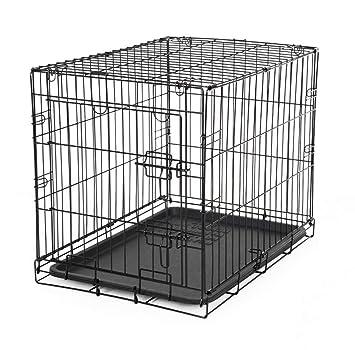 HYFZY Box para el Transporte de Perros, Gatos, Altavoces, Jaula de Metal Plegable