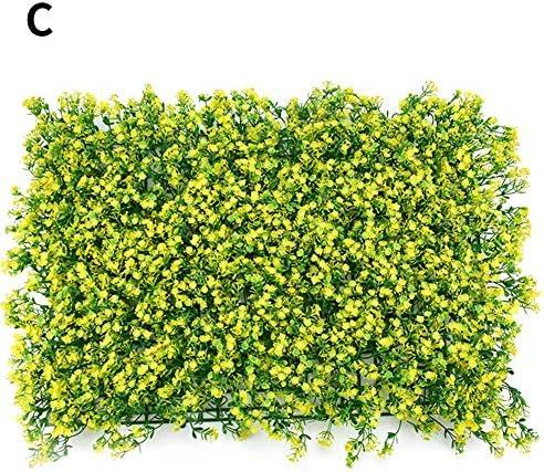 Per Pet 人工芝 ウォールグリーン 壁掛け 芝生 太陽フラワー 人造芝生 フェイク観葉植物 取り付け簡単 人工植物 インテリア 庭 ガーデン 壁面装飾 室内外 幅60×40cm