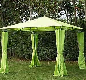 Moderno elegante 3M x 3m limón verde Gazebo toldo tienda de campaña refugio con flancos–viene completo con impermeable Tira de costura lugar