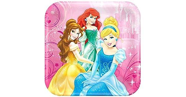 Amazon.com: Disney Princess Sparkle Postre Platos de papel ...