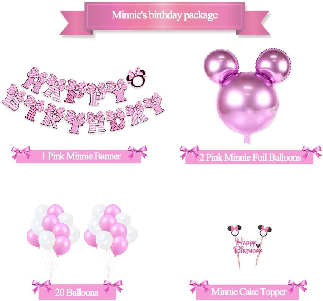 Amazon.com: Minnie Mouse - Figura decorativa de cumpleaños ...