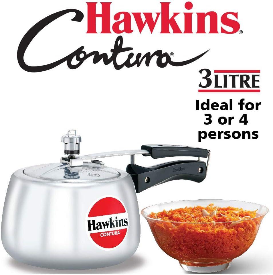 Hawkins Contura Pressure Cooker, 3.0-Litre New Shape
