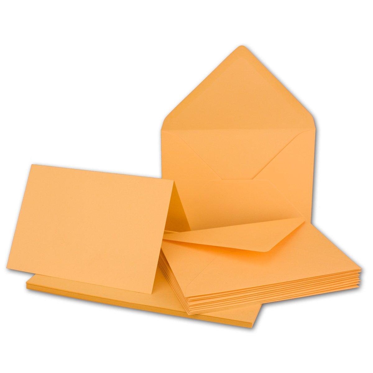 Faltkarten Set mit Brief-Umschlägen DIN A6   C6 in Rosanrot   100 Sets   14,8 x 10,5 cm   Premium Qualität   Serie FarbenFroh® B079Z7J196 | Erste Kunden Eine Vollständige Palette Von Spezifikationen