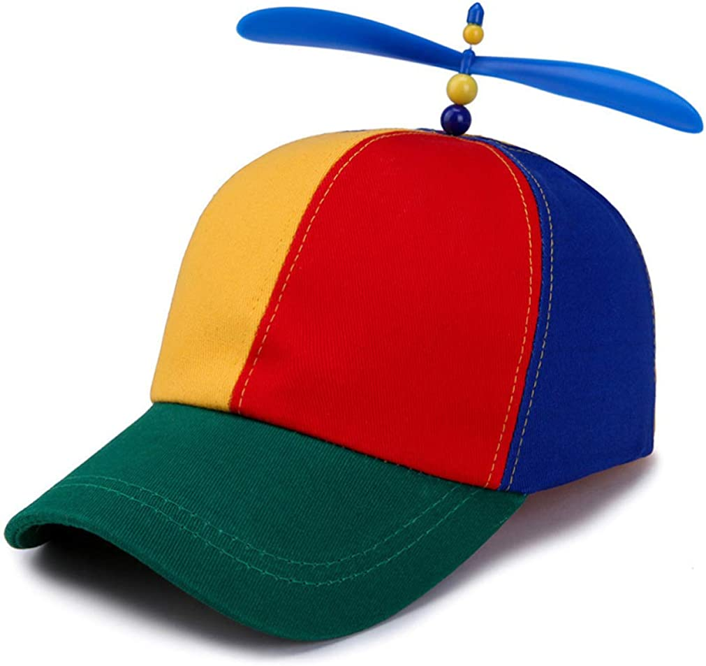HiiWorld Boys and Girls hat Childrens Baseball Hats Summer Outdoor Sunshade Cap Colorful Stitching Windmill Funny caps