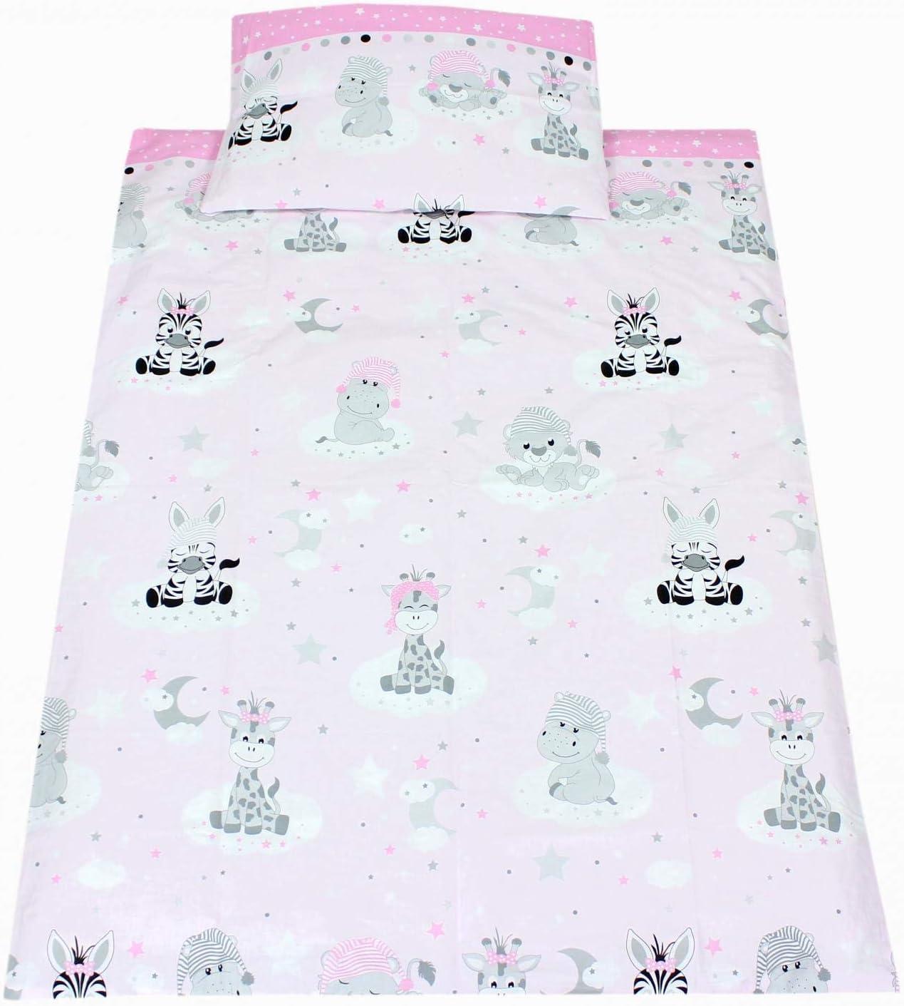 Set Panda e Coniglio//Rosa 3 pz TupTam Set di Biancheria da Letto e Paracolpi per Bambini