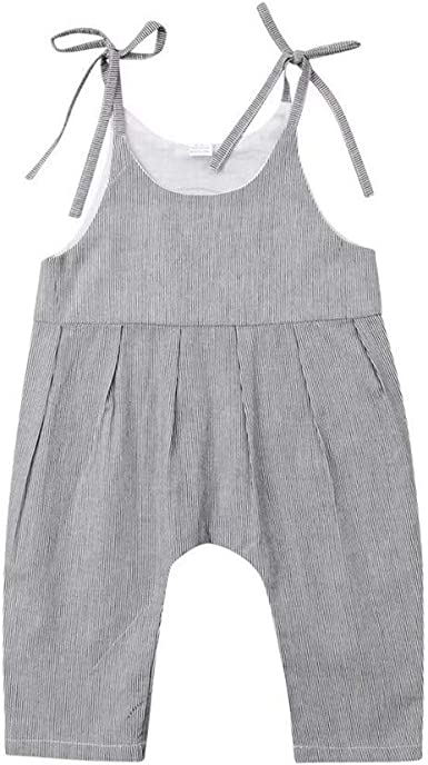 US Toddler Infant Baby Girl Clothes Sleeveless Romper Bodysuit Jumpsuit Outfits