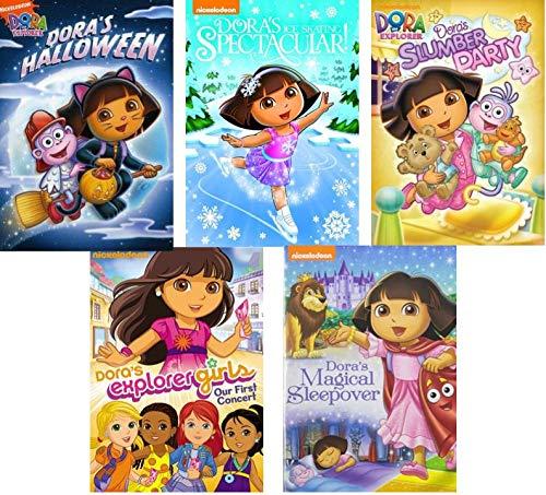 (Dora The Explorer DVD Pack Collection Vol, 3 - Dora the Explorer: Dora's Halloween/ Dora's Explorer Girls/ Dora's Ice Skating Spectacular/ Doras Magical Sleepover/ Dora's Slumber)