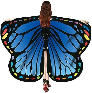 POLP Disfraz de Alas de Mariposa para Mujer Adulto Mariposa Alas ...