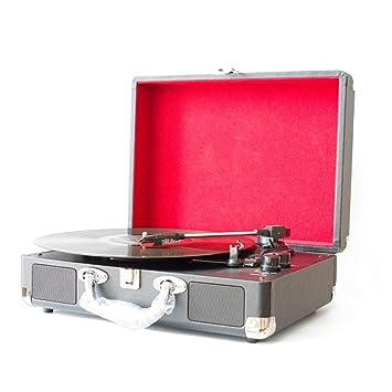 LOEROY Tocadiscos Estéreo Retro, Entrada Auxiliar, Salida RCA ...