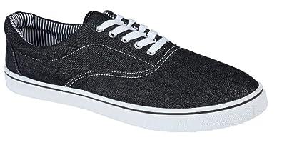 580b05aa8cd UNISEX LACE UP MENS WOMENS PLIMSOLES PLIMSOLLS PUMPS TRAINERS ESPADRILLES  DECK SKATE SHOES CANVAS BOYS GIRLS ADULT SIZES 7-12  Amazon.co.uk  Shoes    Bags
